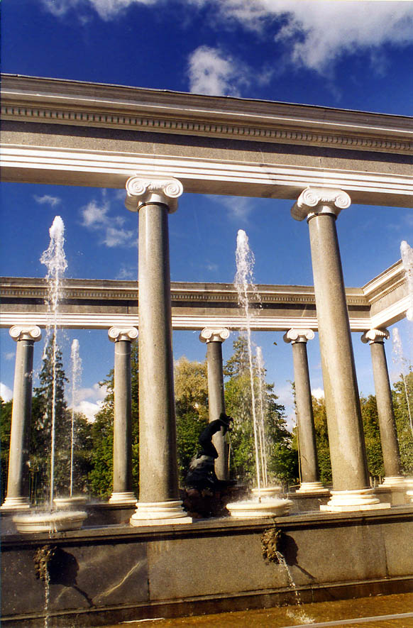 Lion's Cascade of fountains in Peterhof, a former...now a suburb of St.Petersburg. Russia