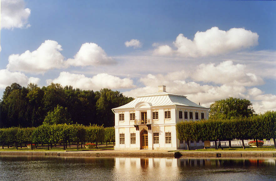 Marli Pavilion in Peterhof, a former Tsar residence, now a suburb of St.Petersburg. Russia