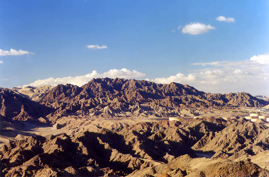 View of Eilat Mountains from Mount Tzefahot, 3...south-west from Eilat. The Middle East