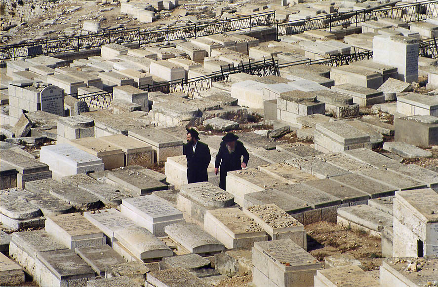 Jewish cemetery on the slope of Mount of Olives. Jerusalem, the Middle East