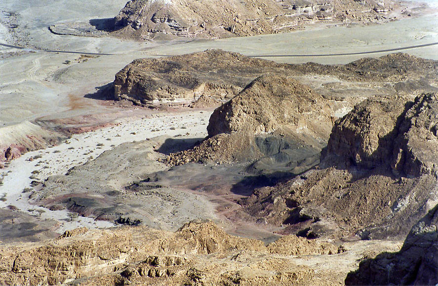 Ancient copper mining area near Solomon Pillars...north from Eilat. The Middle East