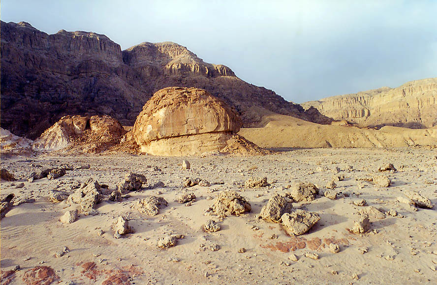 Eroded sandstone in western Timna Park, 13 miles north from Eilat. The Middle East