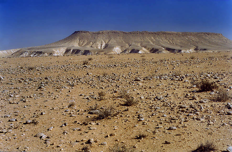 A plateau of Negev desert(view to south-east) 1.5...College at Sde Boker. The Middle East