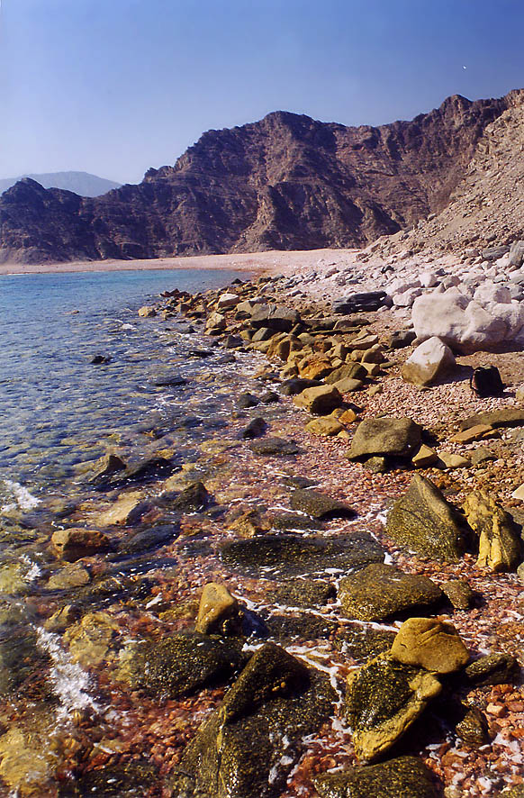 A beach near Sun Pool near Marsa Murah fjord of Gulf of Akaba in Sinai. Egypt