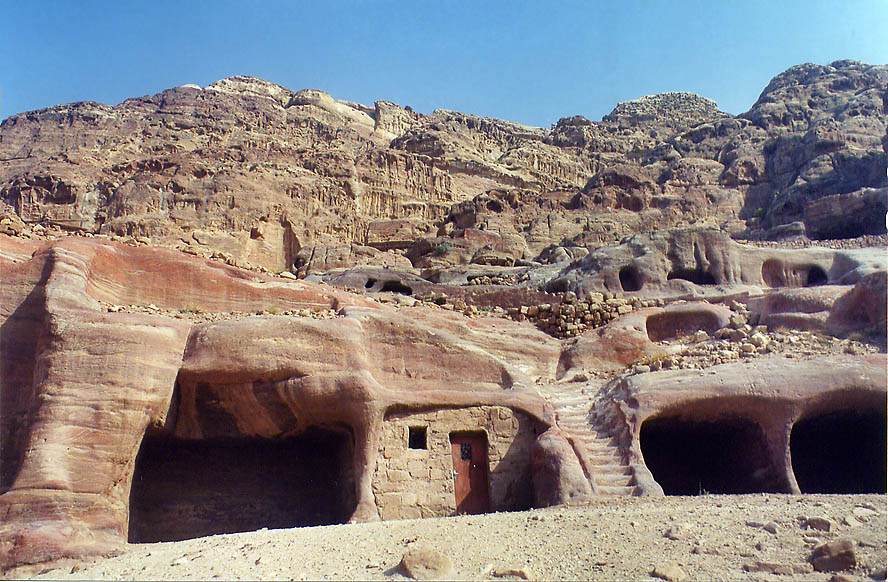 Petra, afternoon  - Near Royal Tombs in Petra. Jordan
