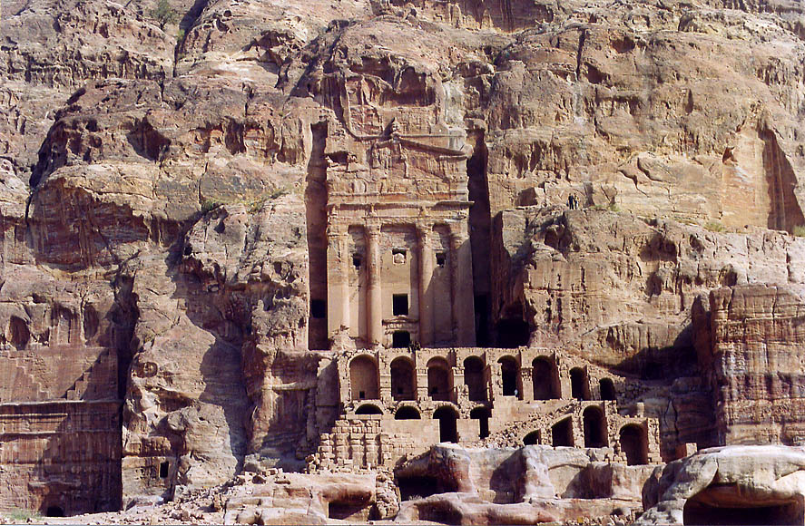 Petra, afternoon  - Royal Tombs in Petra. Jordan