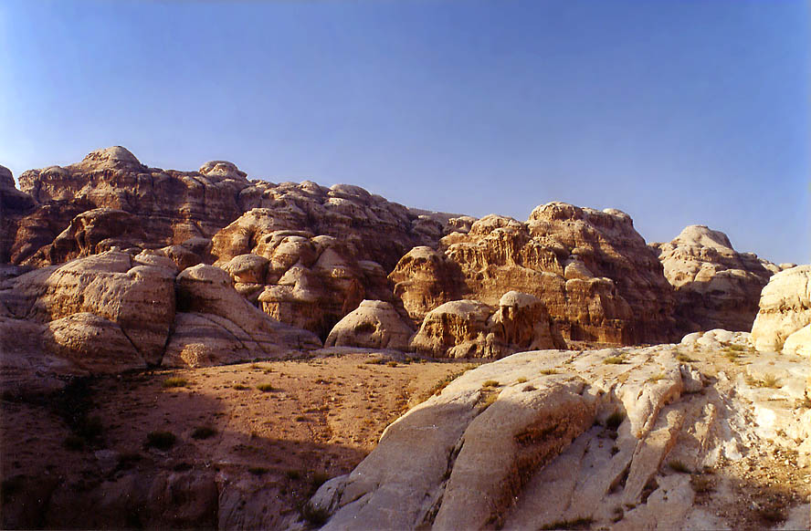 A wadi to the left from exit from Siq. Petra, Jordan