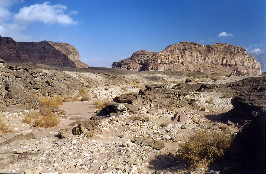 A small wadi near Sasgon Hill in Timna Park, 13 miles north from Eilat. The Middle East