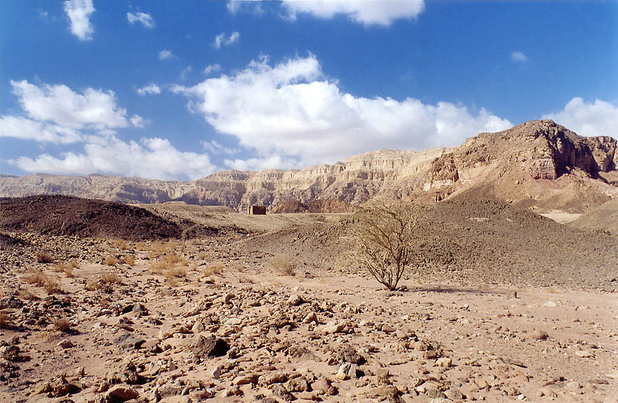 Area in western Timna Park, with some stone...north from Eilat. The Middle East
