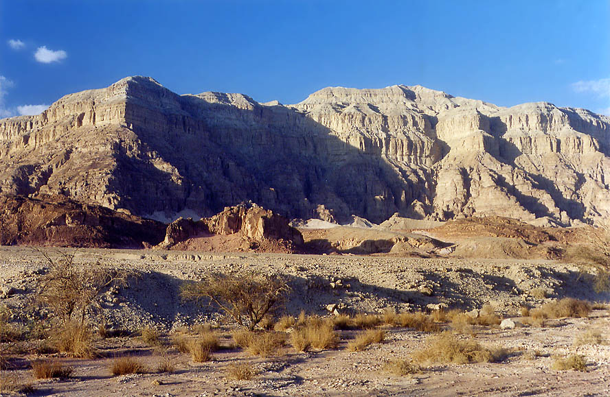 View of Timna Cliffs from a road to the Mushroom...hour before sunset. The Middle East