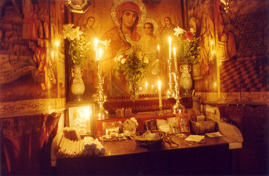 Coptic chapel of the Church of Holy Sepulchre. Jerusalem, the Middle East