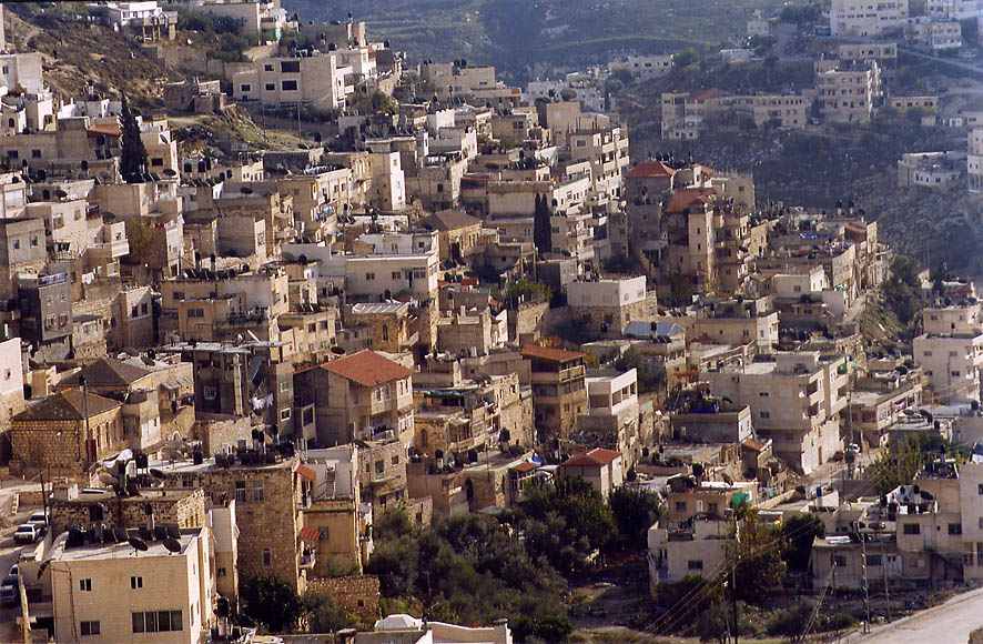 Silwan (Kefar Ha-Shiloah) village in Kidron...Ofel road. Jerusalem, the Middle East