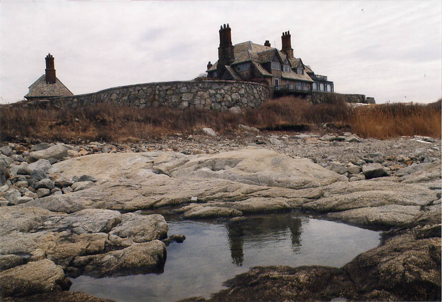 The Waves Mansion from Cliff Walk in Newport. Rhode Island