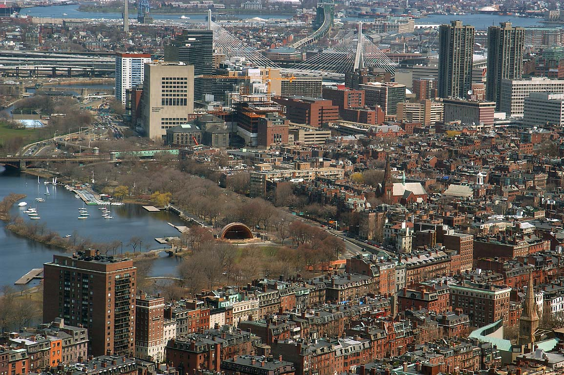 Part of Beacon Hill and Charles River from...Tower. Boston, Massachusetts
