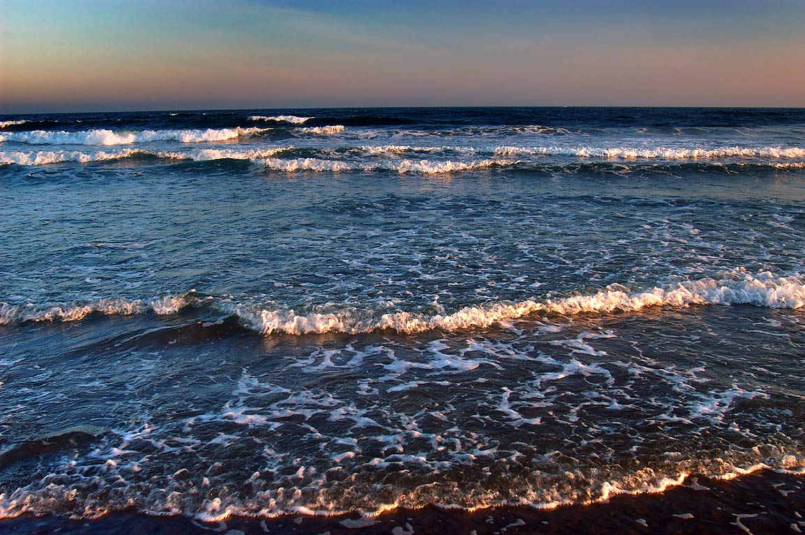Atlantic Ocean from Horseneck Beach at sunset. Westport, Massachusetts