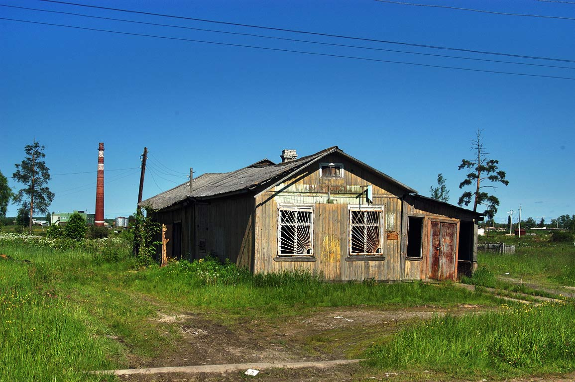 A rustic house in Sablino, south from St.Petersburg. Russia