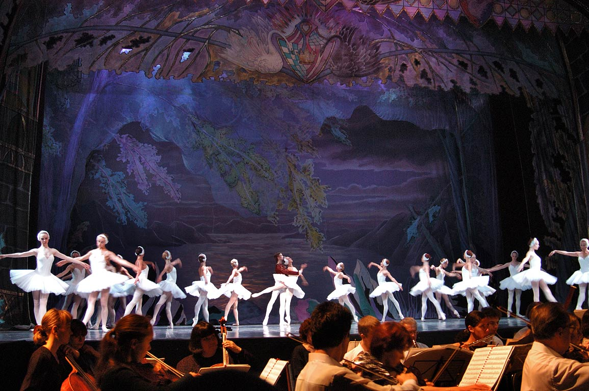 Swan Lake ballet in Imperial Theatre on the Fontanka. St.Petersburg, Russia
