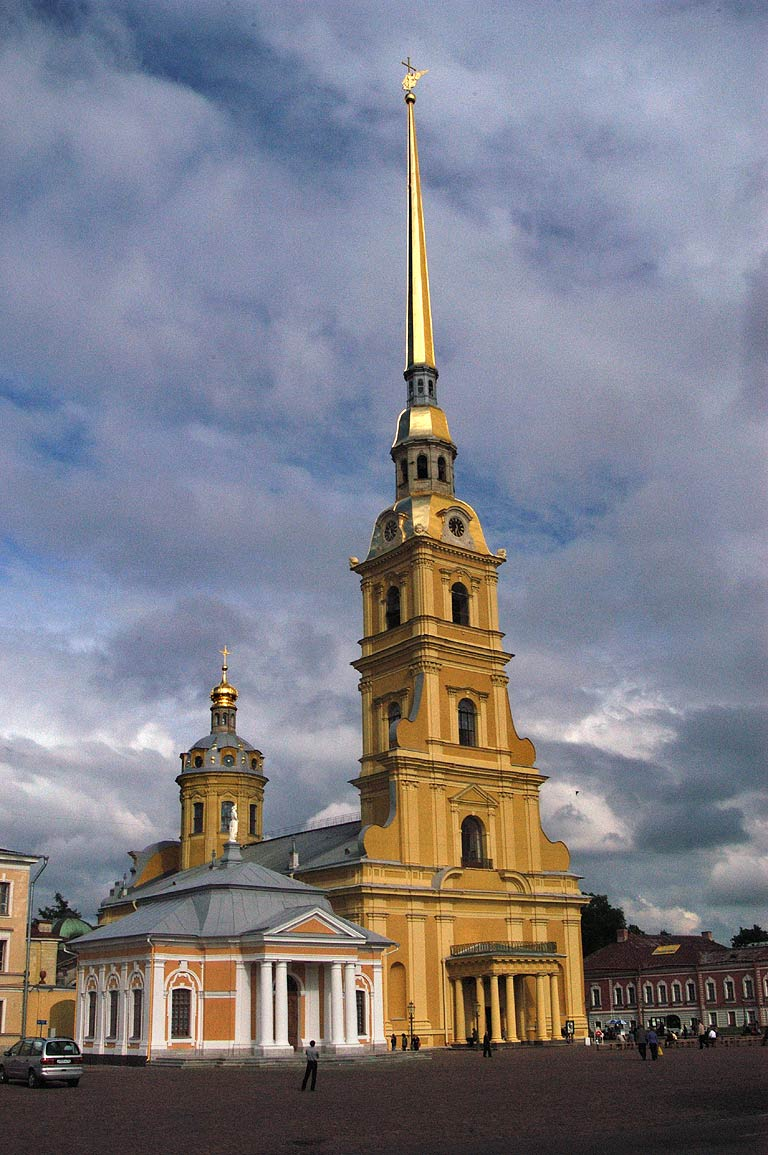 The Peter and Paul Cathedral (there are some...of camera). St.Petersburg, Russia