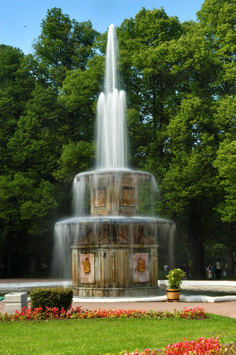 A fountain of Peterhof, a former Tsar residence, now a suburb of St.Petersburg. Russia