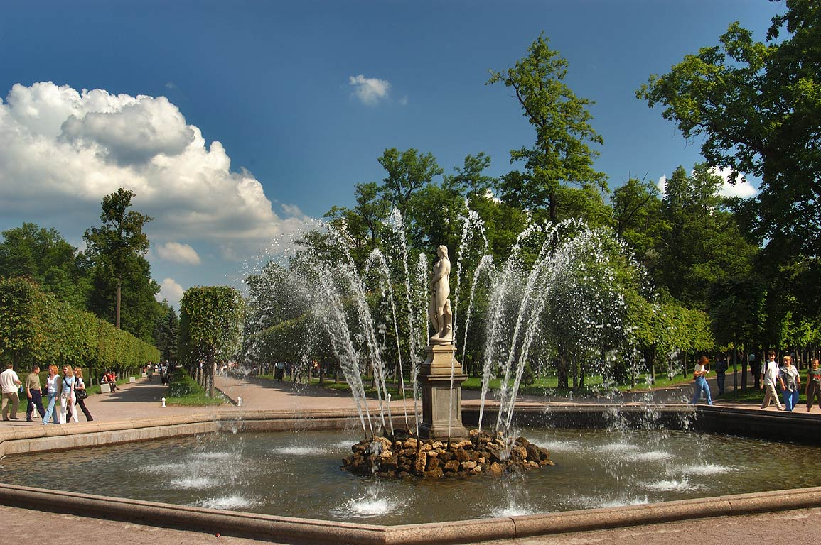 A fountain in Peterhof, a suburb of St.Petersburg. Russia
