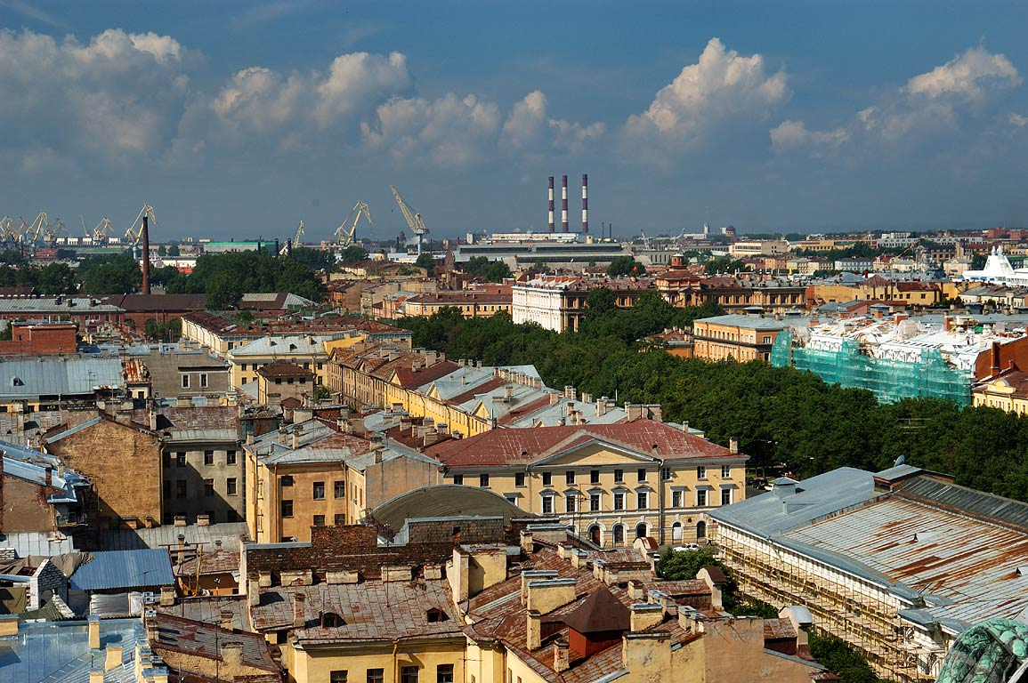 Admiralteysky Prospect from colonnade of St.Isaac Cathedral. St.Petersburg, Russia
