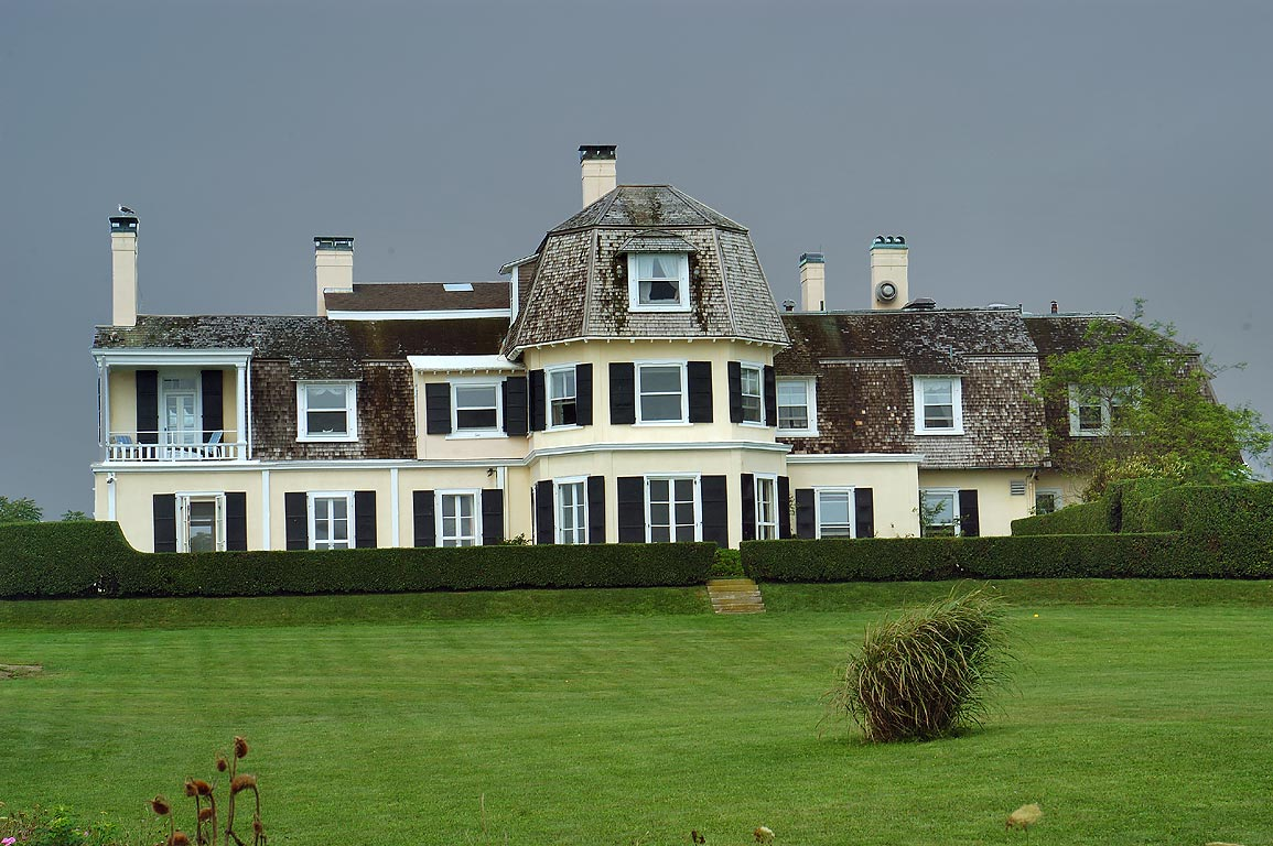 Lands End Mansion from Cliff Walk trail in Newport. Rhode Island