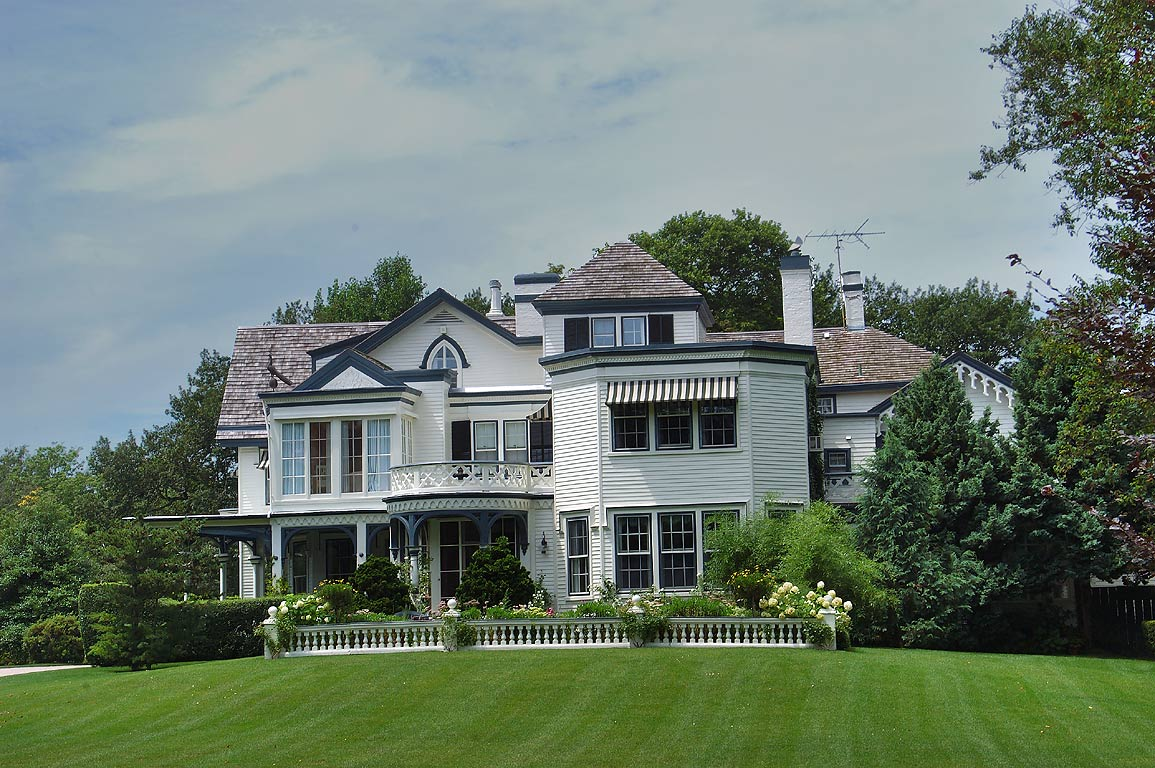 A mansion at the end of Bellevue Ave. near Ledge Rd. in Newport. Rhode Island