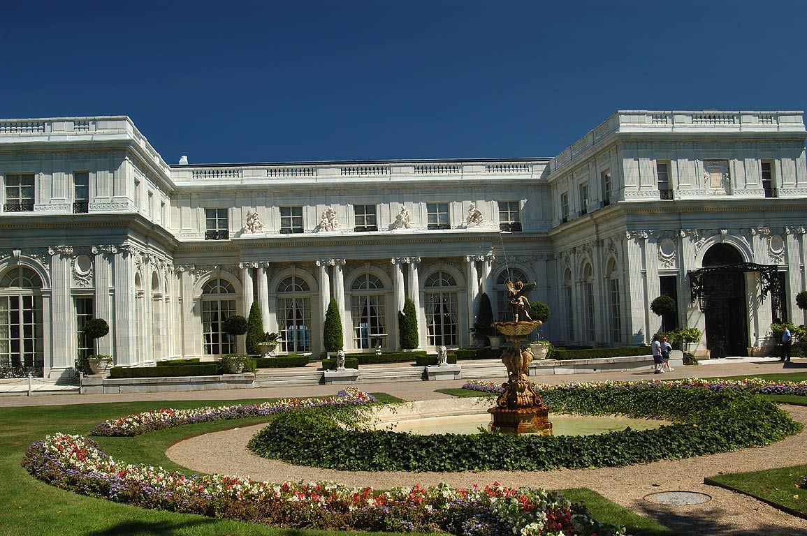 Rosecliff Mansion at Bellevue Ave. in Newport. Rhode Island