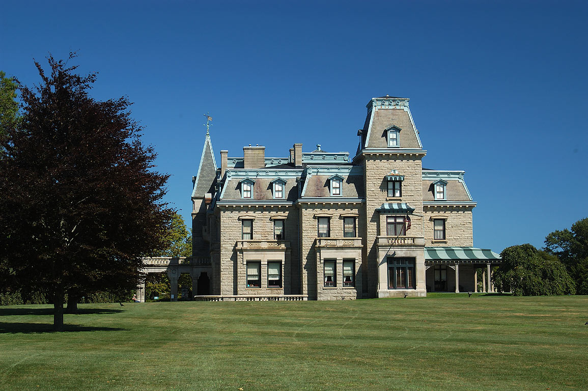 Chateau-Sur-Mer Mansion at Bellevue Ave. in Newport. Rhode Island