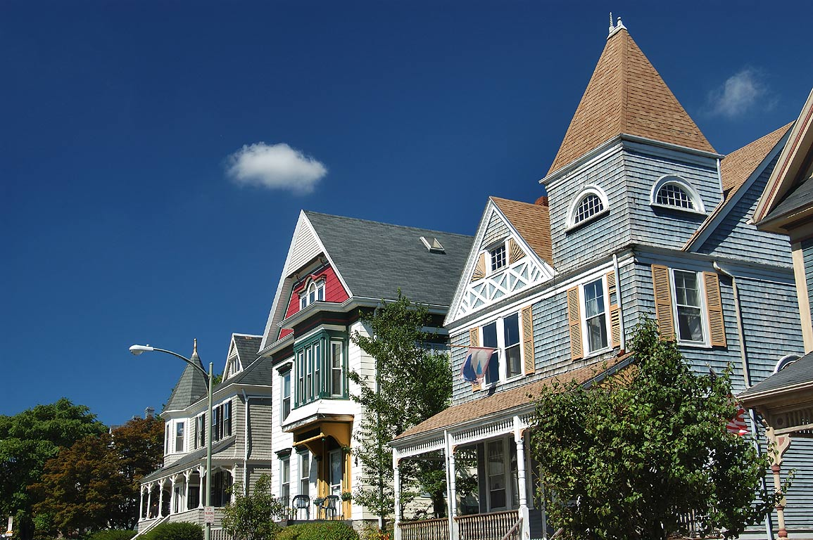 Houses at Hillman Street. New Bedford, Massachusetts