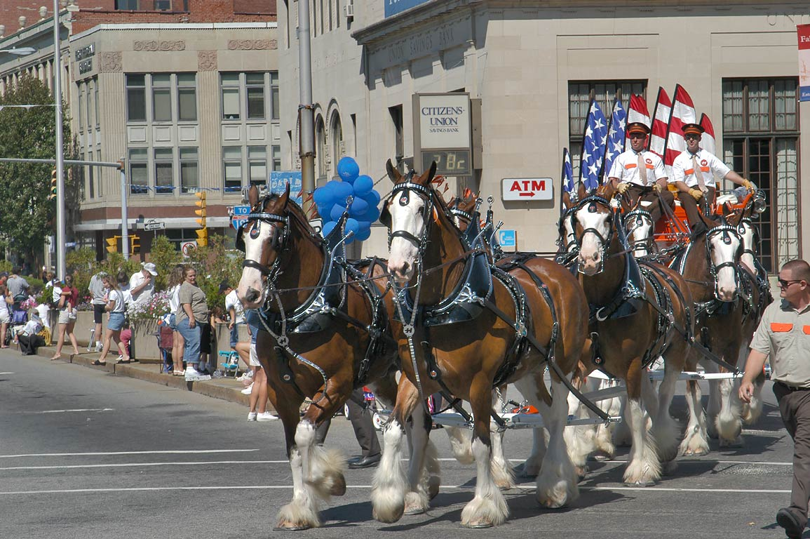Bicentennial celebration parade at South Main St.. Fall River, Massachusetts