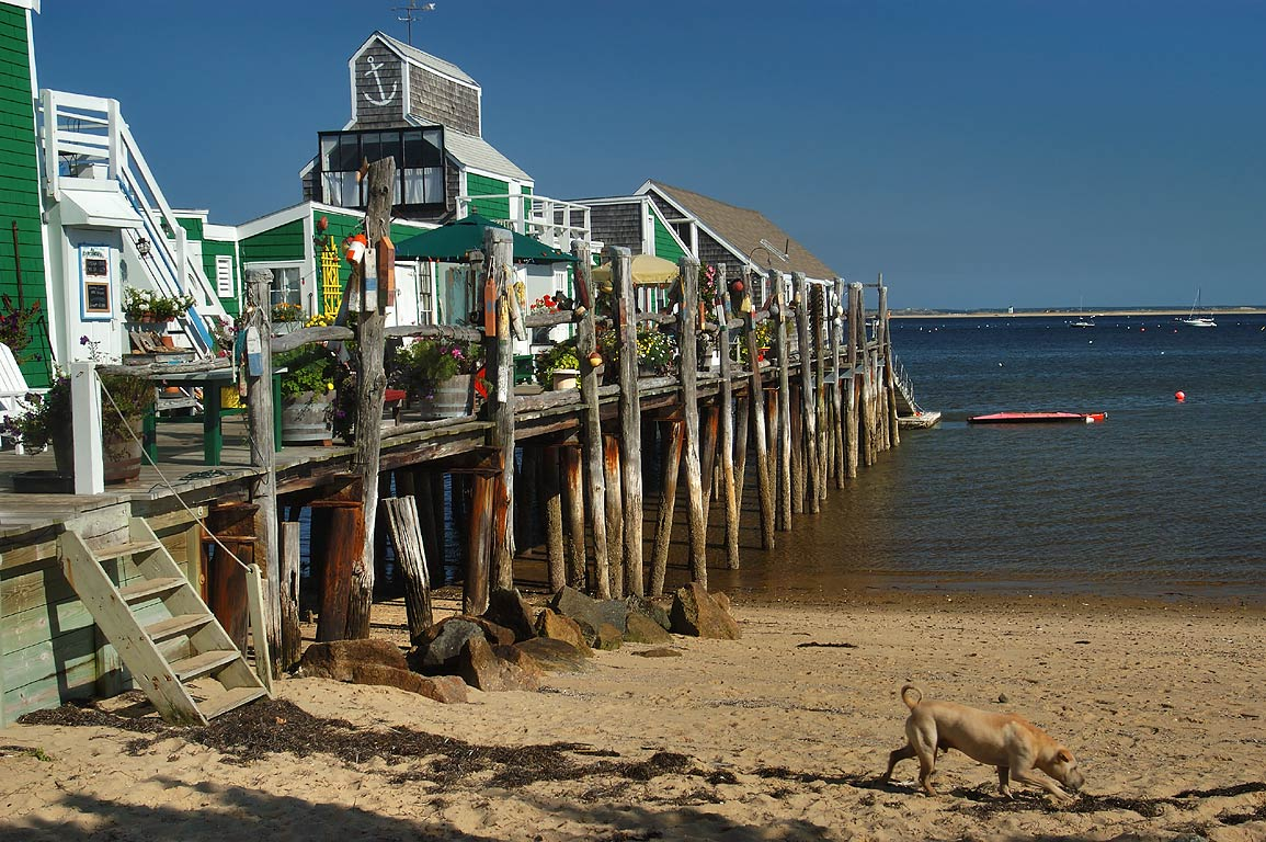 Boat launch in West End of Provincetown. Cape Cod, Massachusetts