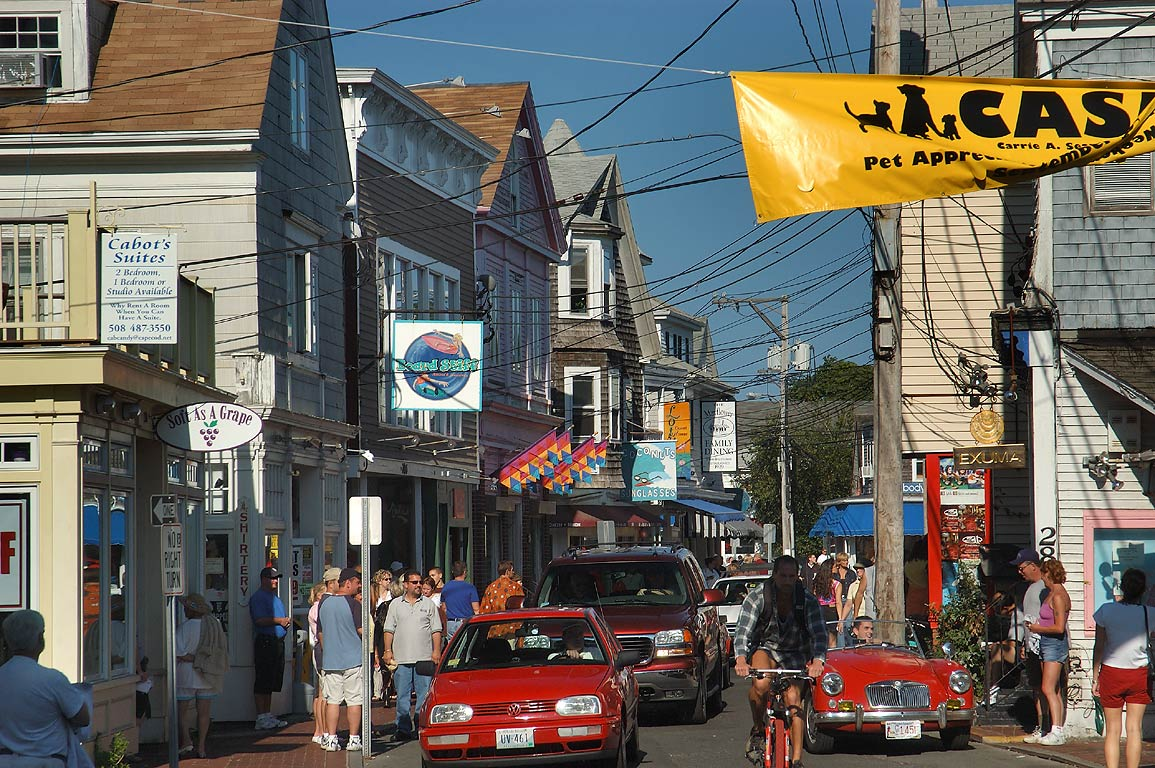 Commercial St. in Provincetown. Cape Cod, Massachusetts