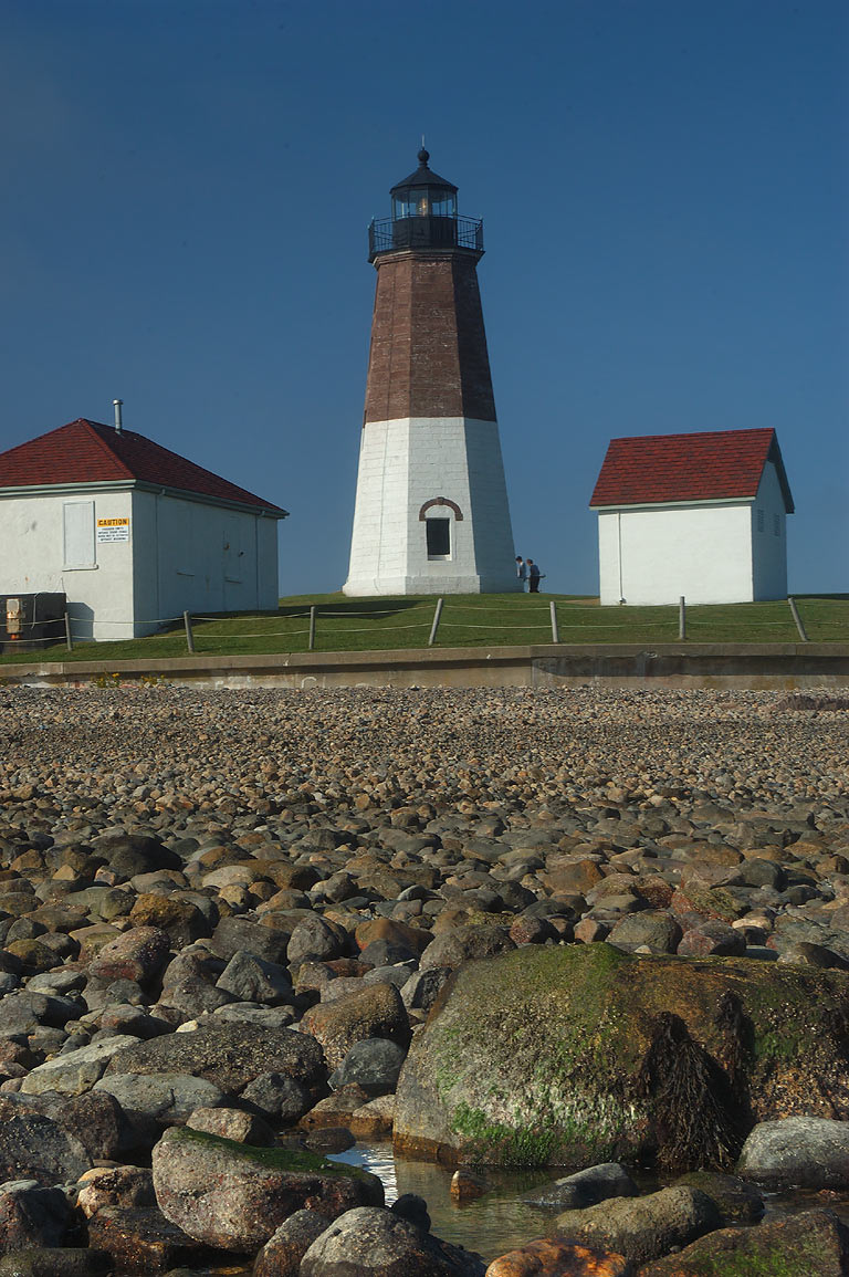 Point Judith Lighthouse in Narragansett. Rhode Island