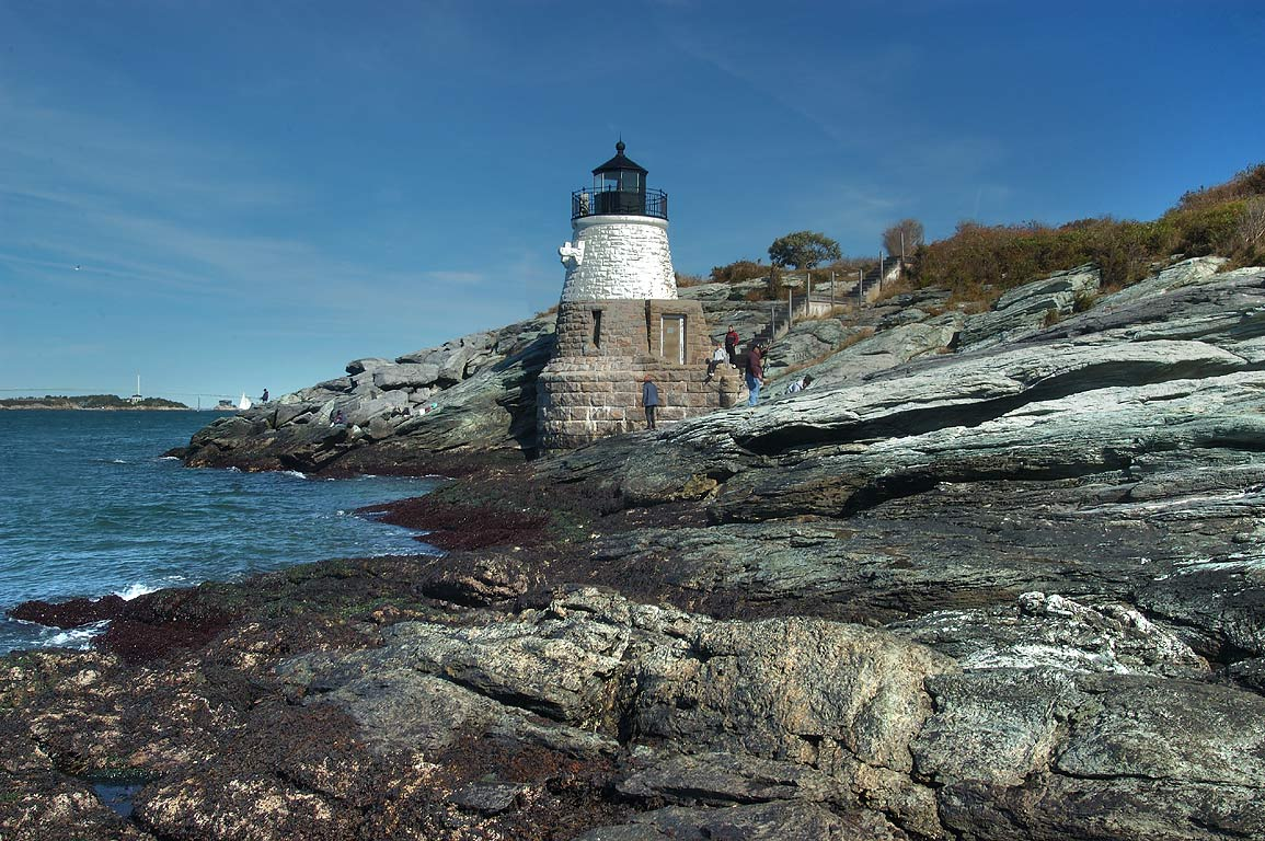 Castle Hill Lighthouse in Newport. Rhode Island