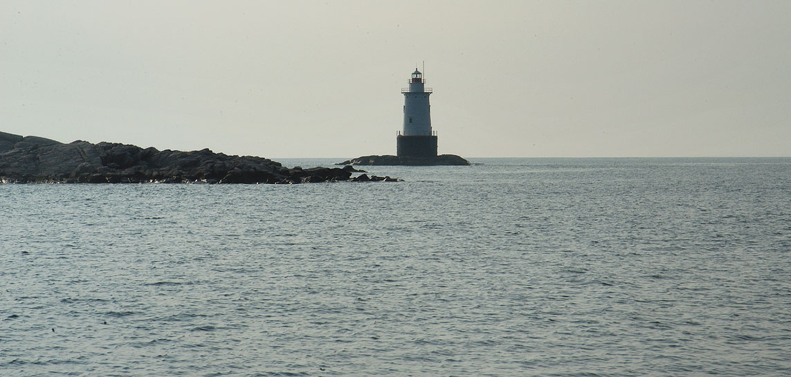 Sakonnet Light from Sakonnet Point. Little Compton, Rhode Island