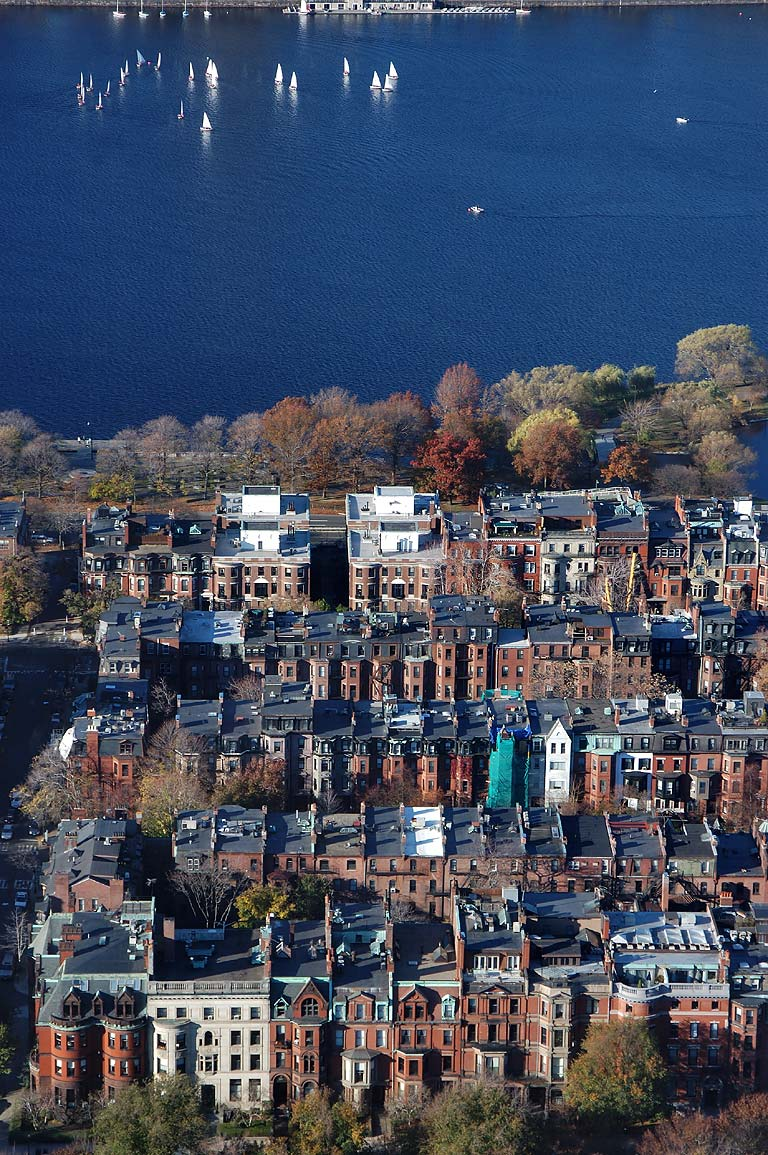 Charles River and Back Bay from Skywalk...Tower. Boston, Massachusetts