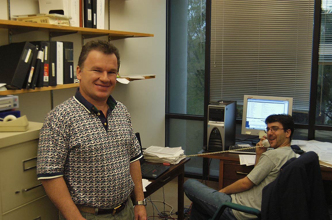 Dr. Wesley D. Allen and Nathan DeYonker in CCQC of University of Georgia. Athens