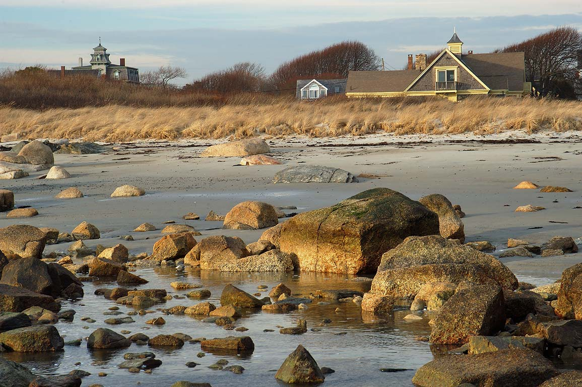 A beach near the end of River Rd. in Acoaxet. Massachusetts
