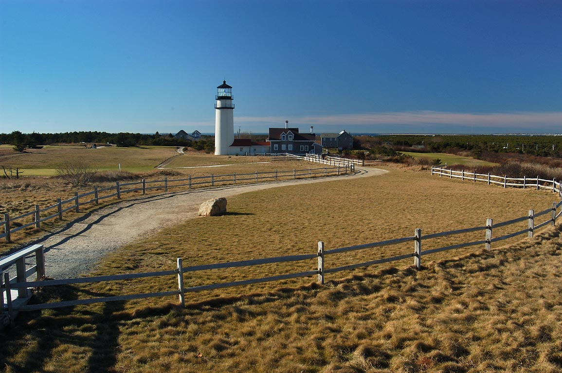 Highland (Cape Cod) Lighthouse and a golf course...lighthouse. North Truro, Massachusetts