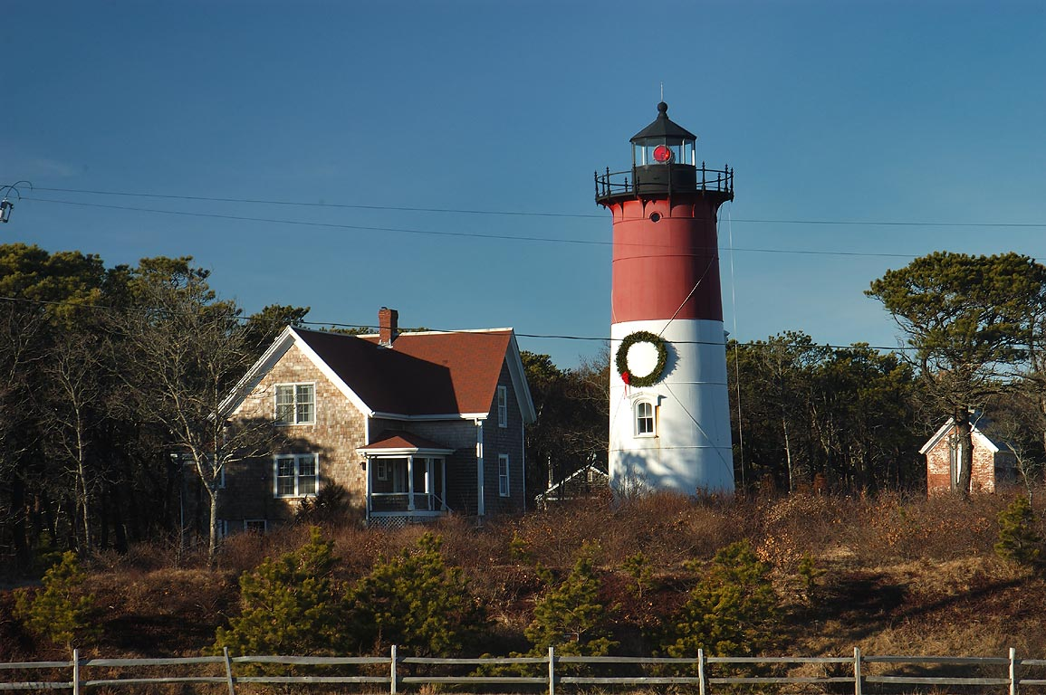 Nauset Beach Light in Cape Cod. North Eastham, Massachusetts