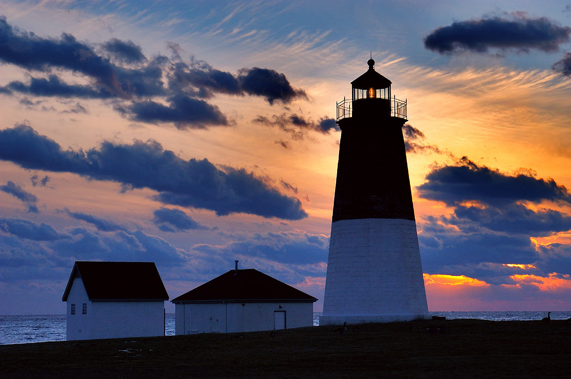 Point Judith Lighthouse. Narragansett, Rhode Island