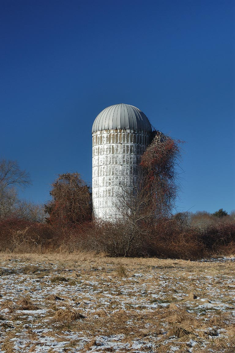 A silo at Chase Rd.. Dartmouth, Massachusetts