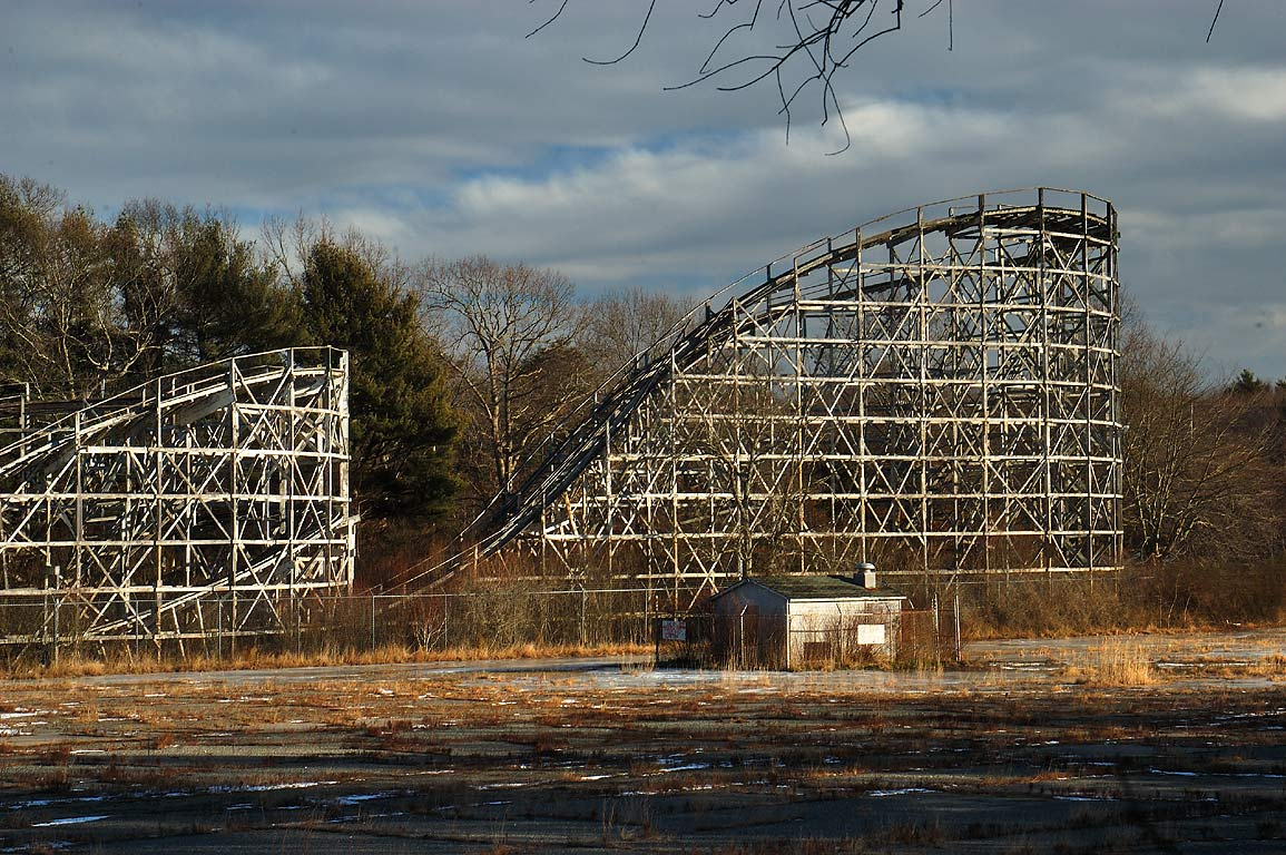 Ruins of Comet roller coaster (1946) in Lincoln...Rd.. North Dartmouth, Massachusetts