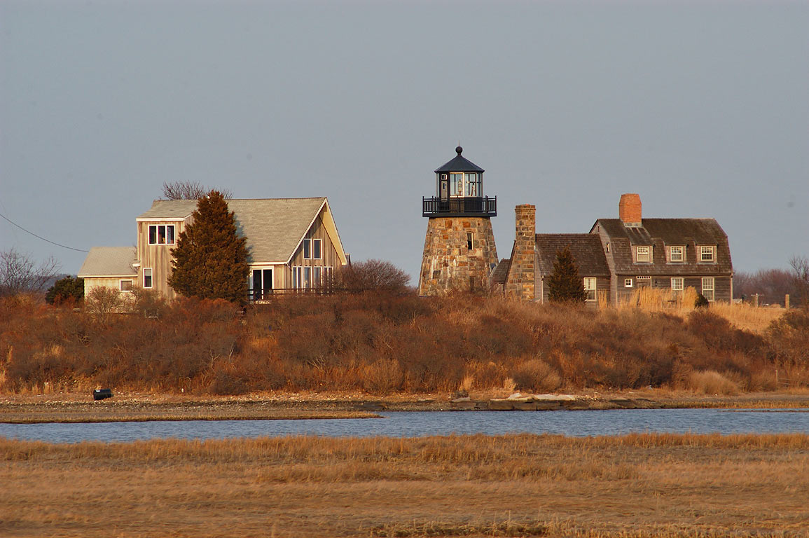 An observatory disguised as a lighthouse (zoomed...Rd. north from Jerusalem. Rhode Island