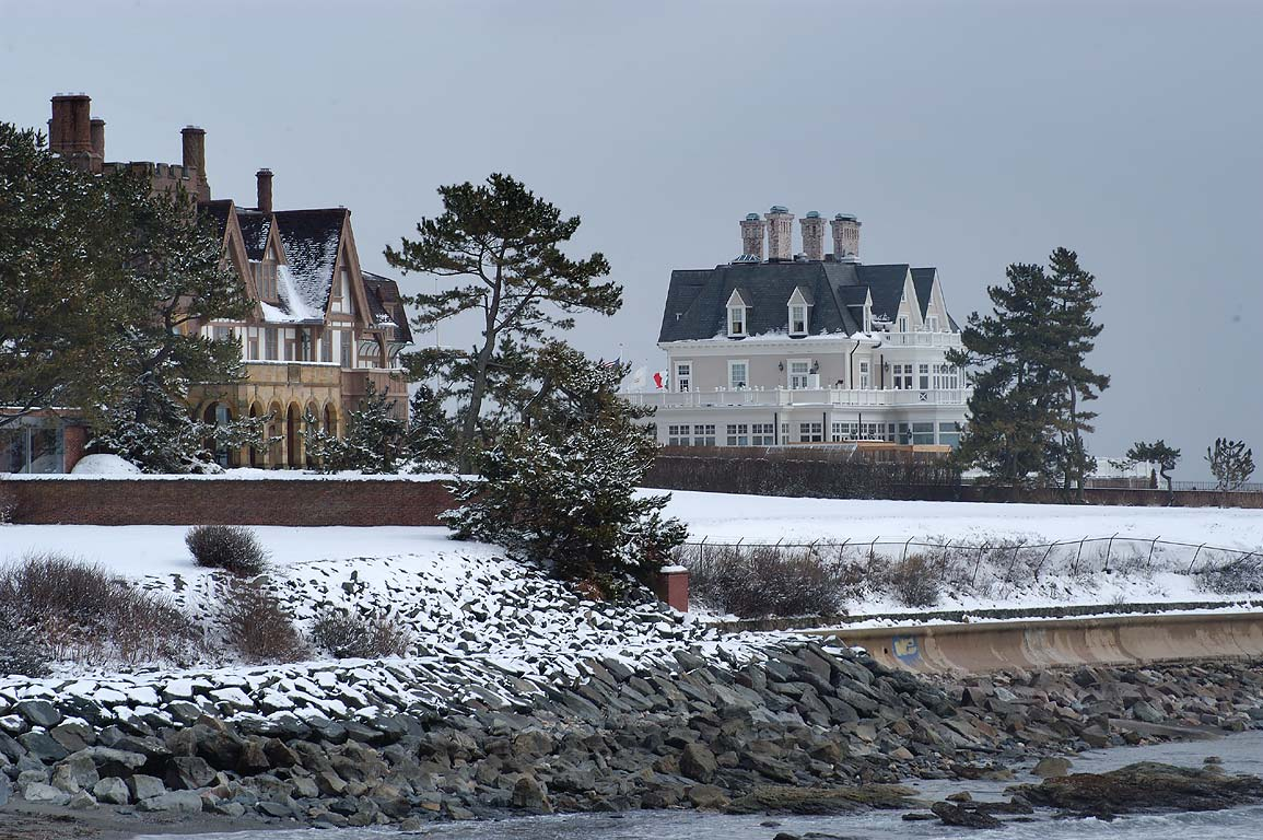 Fairhaven and Angelsea mansions at Ochre Point...Walk trail in Newport. Rhode Island