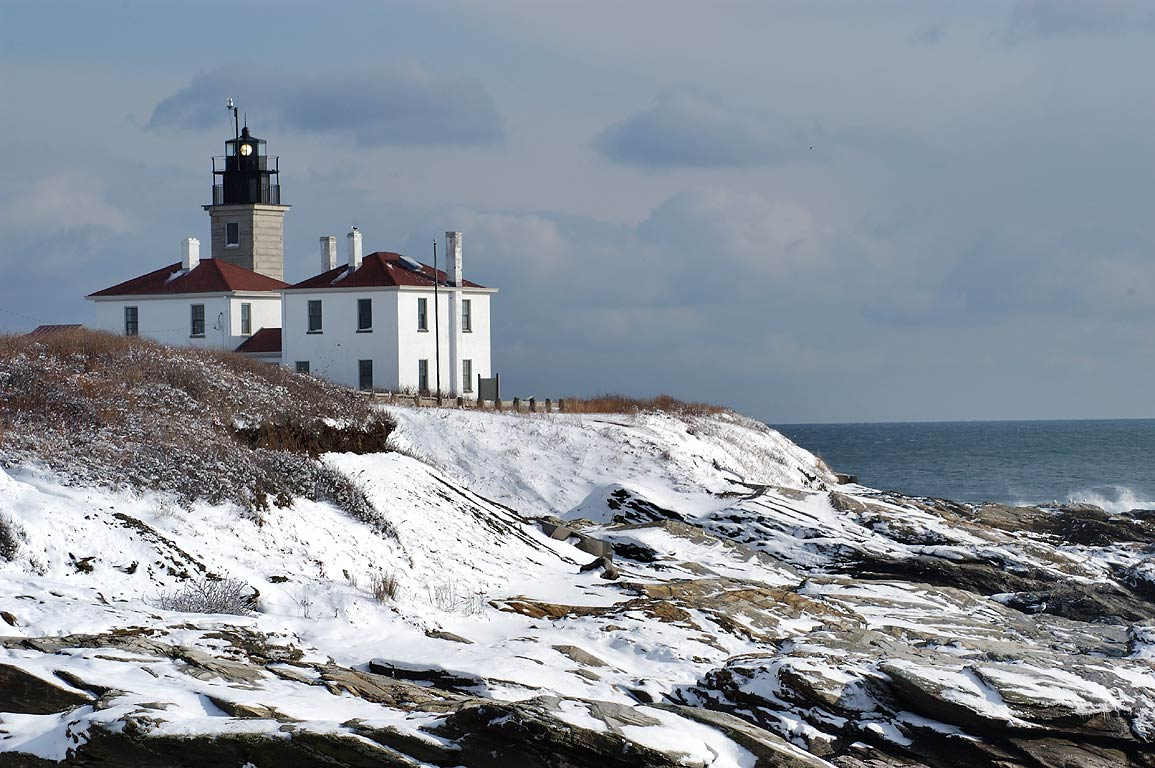 Beavertail Lighthouse in Jamestown, Rhode Island
