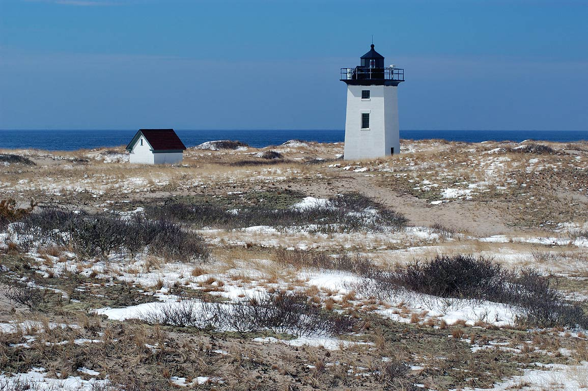Woods End Lighthouse in Cape Cod. Provincetown, Massachusetts