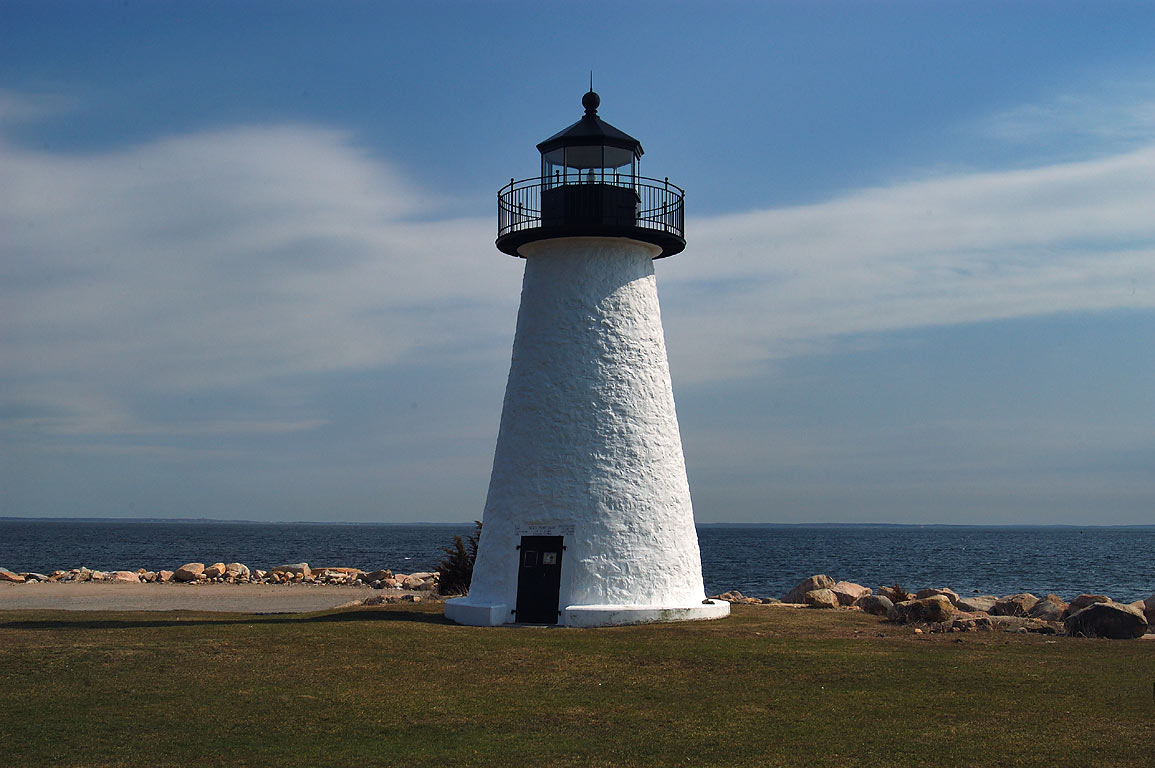 Ned Point Light in Mattapoisett. Massachusetts