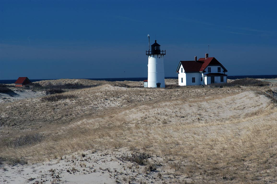 Race Point Light in Cape Cod. Provincetown, Massachusetts
